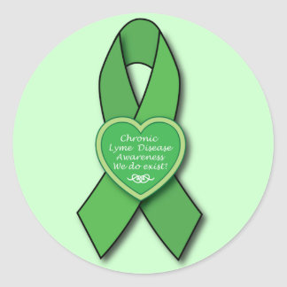 Chronic Lyme Disease Awareness Ribbon Classic Round Sticker