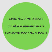 Chronic Lyme Disease Classic Round Sticker