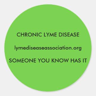 Chronic Lyme Disease Classic Round Sticker