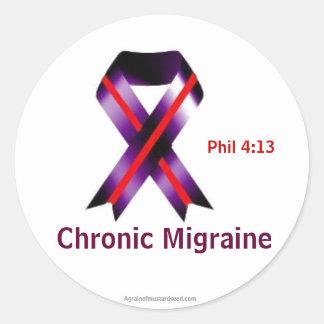Chronic Migraine Awareness Classic Round Sticker