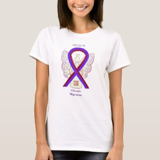Chronic Migraines Awareness Ribbon Custom Shirts