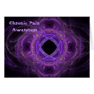 Chronic Pain  Awareness Fractal Card
