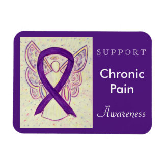 Chronic Pain Awareness Ribbon Angel Custom Magnet