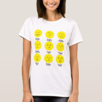 Chronic Pain Emoji T-Shirt: Yellow T-Shirt