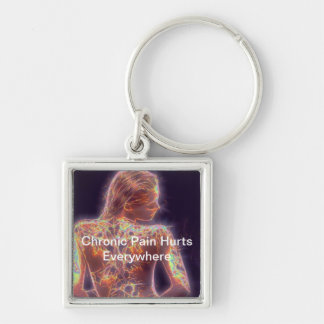 Chronic Pain Hurts Everywhere Silver-Colored Square Keychain