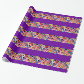 Chronic Pain Stained Glass Collage Wrapping Paper