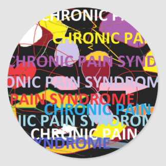 Chronic Pain Syndrome Round Stickers