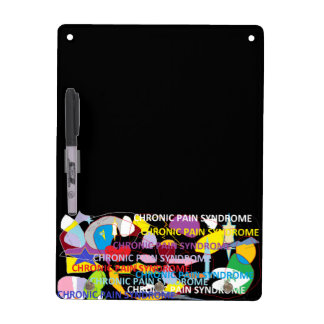 Chronic Pain Syndrome Typography Art Dry Erase Board