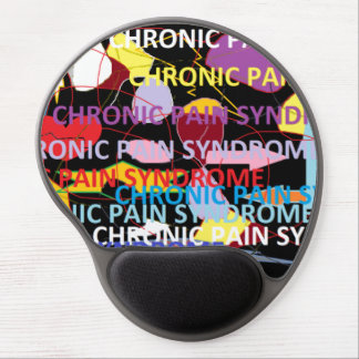 Chronic Pain Syndrome Typography Art Gel Mousepad