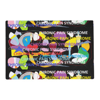 Chronic Pain Syndrome Typography Art Laminated Place Mat