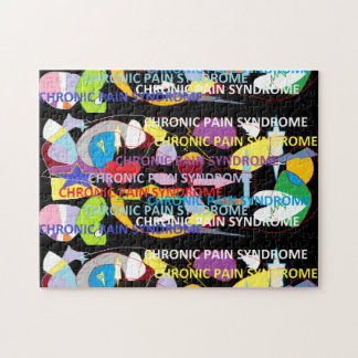 Chronic Pain Syndrome Typography Art Jigsaw Puzzles