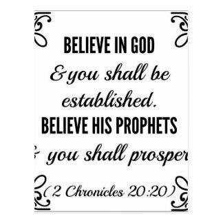 Chronicles Bible Believe in God Postcard