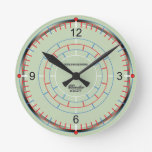 Chronometer II Small Round Clock by David M. Bandler