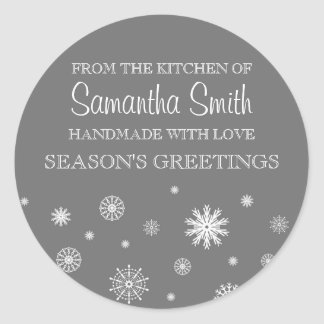 Chrsitmas From the Kitchen of Sticker Gray Snow