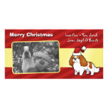 Chrstmas Cavalier King Charles Spaniel Personalized Photo Card