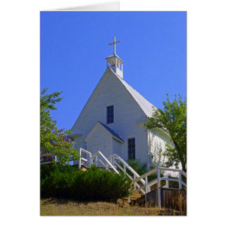 Chruch católico tarjeta de felicitación