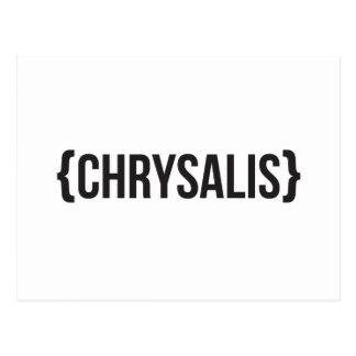 Chrysalis - Bracketed - Black and White Postcard