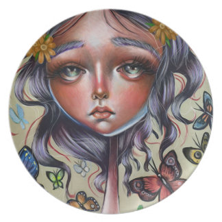 Chrysalis Butterflies Art Pop Surrealism Plate