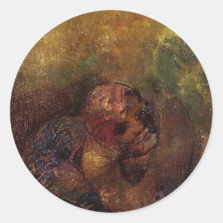 Chrysalis by Odilon Redon Sticker