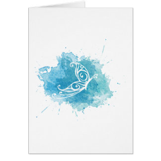Chrysalis Logo Greeting card - vertical