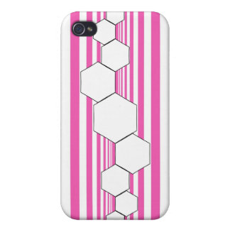 Chrysalis XIII Magenta White iPhone Case Case For iPhone 4