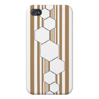 Chrysalis XIII Tan White iPhone Case Cover For iPhone 4