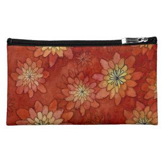 chrysantemum pattern makeup bag