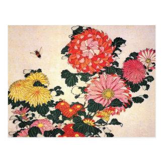 Chrysanthemum and horse-fly, Katsushika Hokusai Postcard