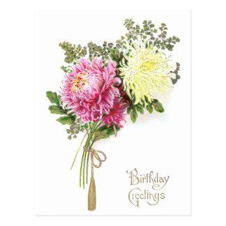 Chrysanthemum Birthday Postcard