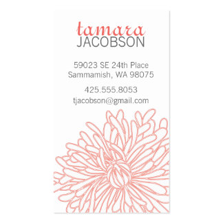 Chrysanthemum Blossom Calling Card Double-Sided Standard Business Cards (Pack Of 100)