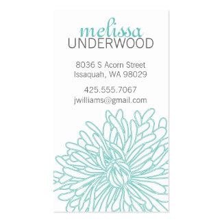 Chrysanthemum Blossom Calling Card Business Card Templates