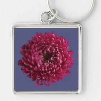 Chrysanthemum & Blue Keychain