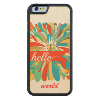 Chrysanthemum Bold Colorful Floral Hello World Carved® Maple iPhone 6 Bumper