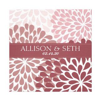 Chrysanthemum (Brick Red) Canvas Wedding Gift