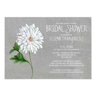 "Chrysanthemum Bridal Shower Invitations 5"" X 7"" Invitation Card"