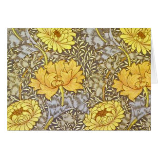 chrysanthemum by William Morris Card
