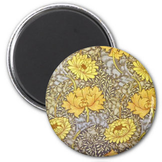 chrysanthemum by William Morris Magnet