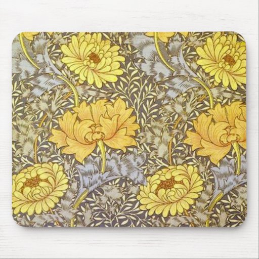 chrysanthemum by William Morris Mouse Pad