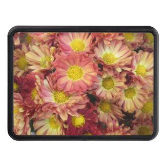 Chrysanthemum Cluster Garden Yellow Pink Trailer Hitch Cover