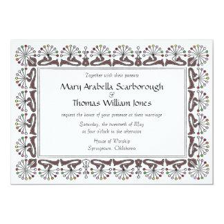 Chrysanthemum color wedding invitation