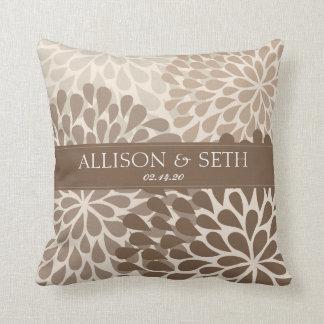 Chrysanthemum (Dachshund Brow) Wedding Shower Gift Throw Pillow