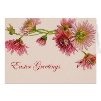Chrysanthemum Easter Greetings - Card