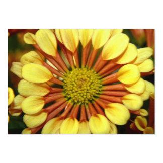 Chrysanthemum Flower Invitation