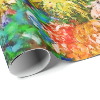 Chrysanthemum Flowers Claude Monet Wrapping Paper