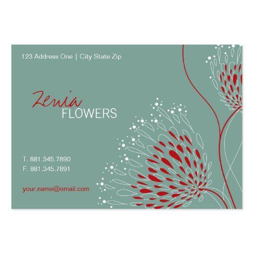 Chrysanthemum Flowers Floral Elegant Chic Business Business Card Template