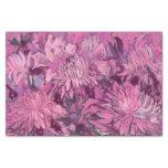 Chrysanthemum Flowers Floral Painting Pink Maroon Tissue Paper
