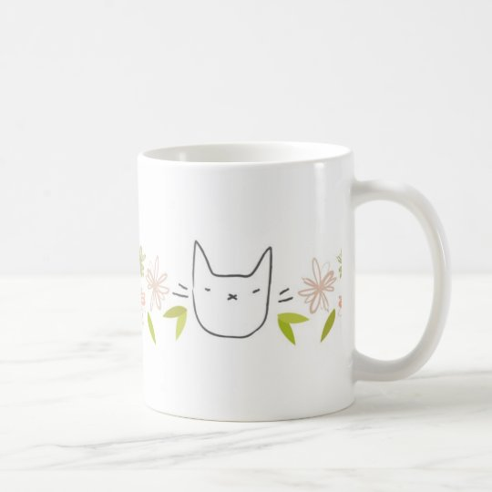 Chrysanthemum Garden Cat Mug