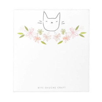 Chrysanthemum Garden Cat Notepad