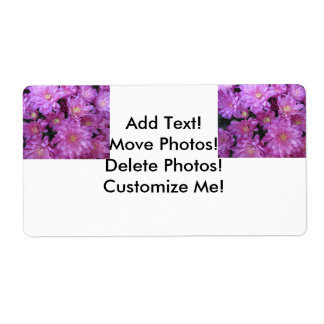 Chrysanthemum Group Plant Purple Personalized Shipping Label