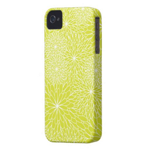 Chrysanthemum Lime Green iPhone Case iPhone 4 Cover